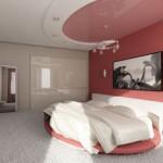 Натяжные потолки в спальне выбор